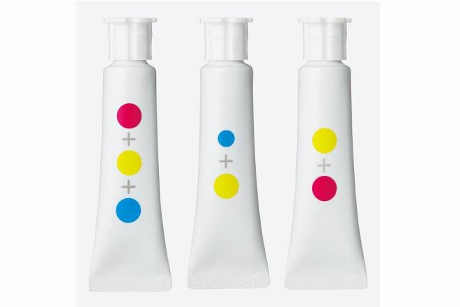 色に名前がないため、元になった色の組み合わせが記号的に表現されている
