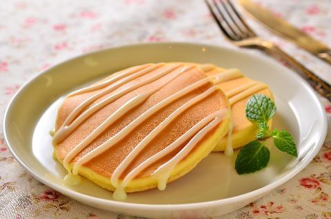 ミニホットケーキ☆れん乳ソース