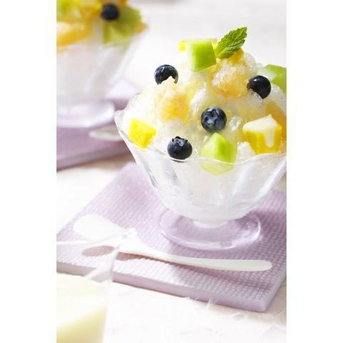 フルーツれん乳かき氷