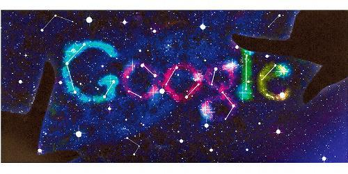 グーグルロゴのデザインコンテストの優秀作品「煌き、その刹那(せつな)。」=グーグル提供