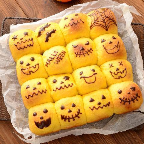 ハロウィンれん乳ちぎりパン
