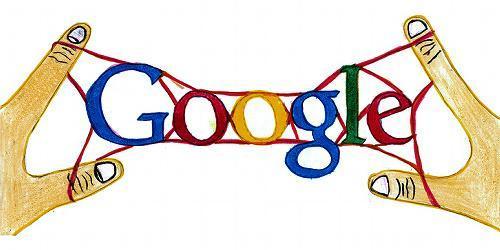 グーグルロゴのデザインコンテストの優秀作品「やったぁー!六段ばしごできたよ」=グーグル提供