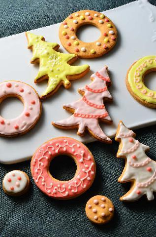 れん乳アイシングのクッキー