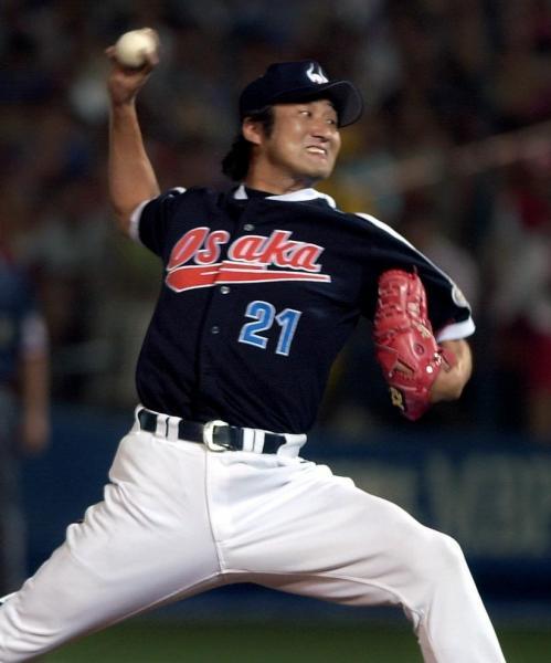 2001年のオールスター戦で力投する盛田投手