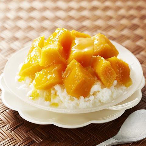 台湾風マンゴーミルクかき氷
