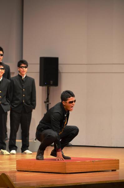 尾崎豊さんのセリフをまねて笑いを誘った指揮の男子生徒
