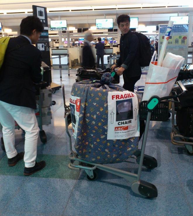 海外収録の際、文枝さんの椅子だけは日本から持ち込んだ