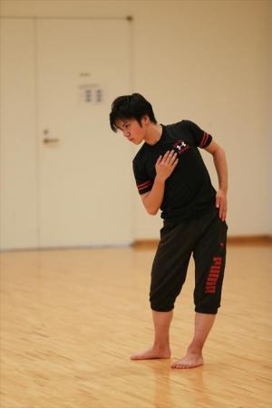 真剣な表情で練習をする宇野昌磨選手