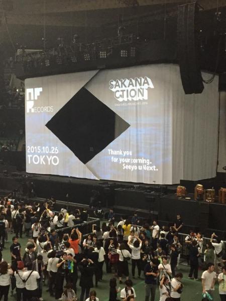 武道館であったライブ「SAKANAQUARIUM 2015-2016 NF Records launch tour」