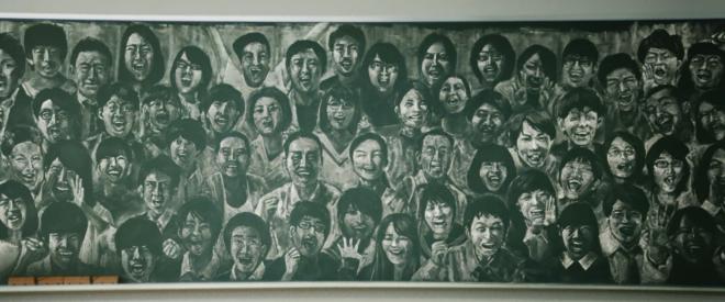 6328枚の黒板アートで作った動画の一場面