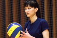 Vリーグ2部のチャレンジリーグ「GSS サンビームズ」に入団することが決まったサビーナ・アルシンベコバ選手=電通提供
