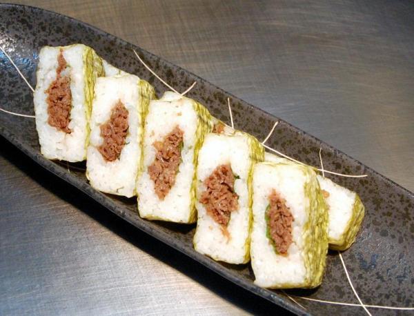 近江牛のばってら寿司