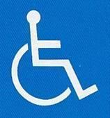 【障害者のための国際シンボルマーク】障害者が利用できる建物、施設であることを明確に表すための世界共通のシンボルマークです。マークの使用については国際リハビリテーション協会の「使用指針」により定められています。