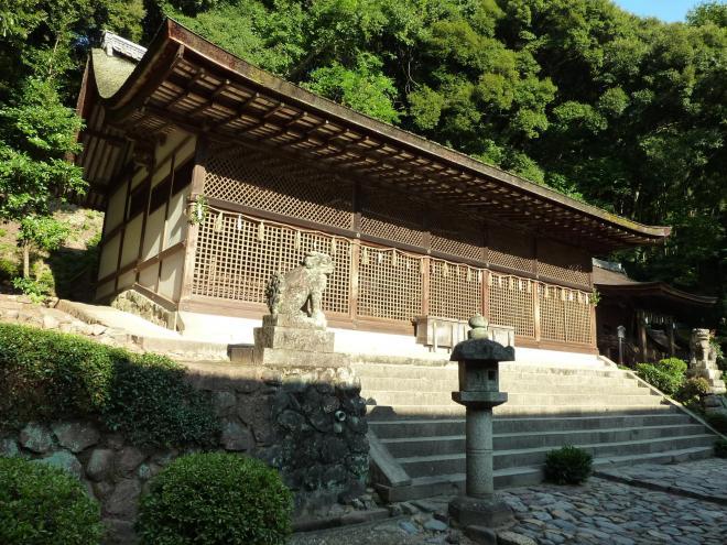 現存最古の神社建築とされる本殿
