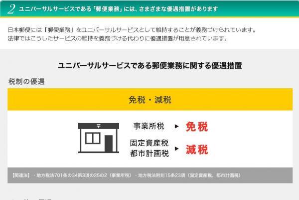 郵便業務のあり方について主張するヤマトの特設サイト