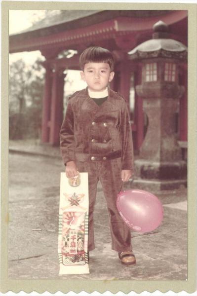 熊本での少年時代の紀里谷和明