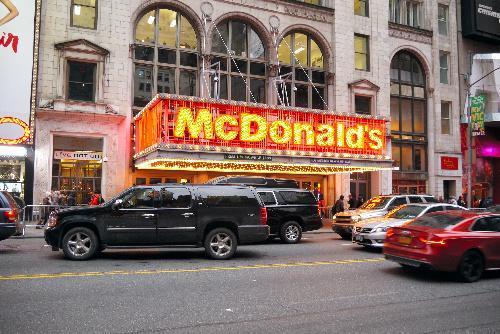 2014年、ニューヨーク市内にあるマクドナルド店舗