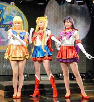 ミュージカル上演などスピンアウト企画も人気の「美少女戦士セーラームーン」=2013年8月4日
