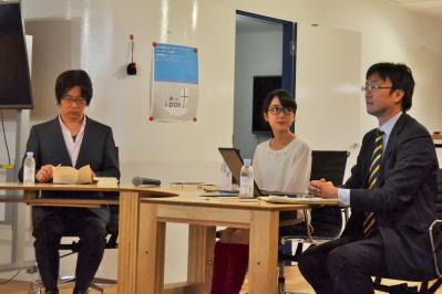 東京・渋谷で開かれたイベント「女子大生のリアル!」。ノンフィクションライターの中村淳彦さん、大学ジャーナリストの石渡嶺司さん、『キャバ嬢の社会学』の著者の北条かやさんが登壇した