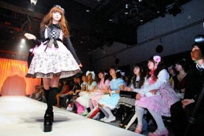 ロリータファッションのショー=東京都渋谷区