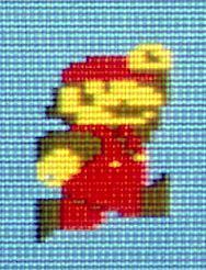 縦横無尽に画面の中を駆け回った、主人公のマリオ=任天堂提供
