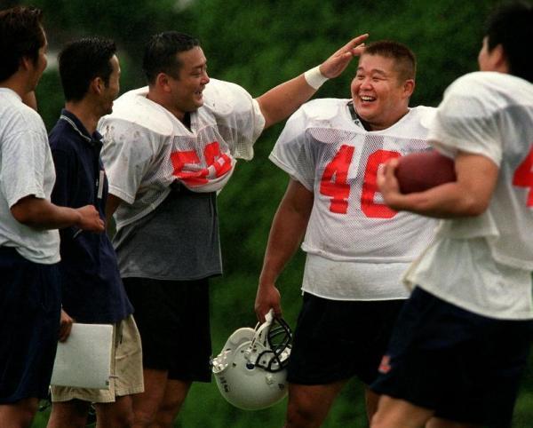 【2001年8月18日】オンワードスカイラークスの練習に初参加した花田勝