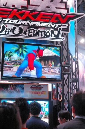 「鉄拳タッグトーナメント2」の「Wii U」版。人気キャラクターのマリオも登場する=2012年9月20日、東京ゲームショウ
