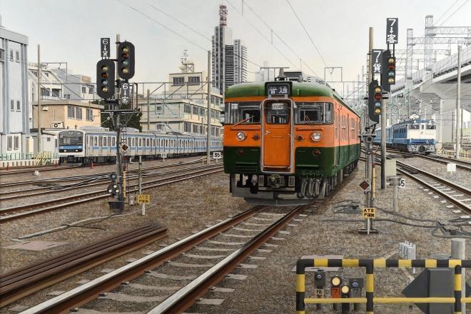 日本信号の報告書の表紙に使われた福島尚さんの絵画