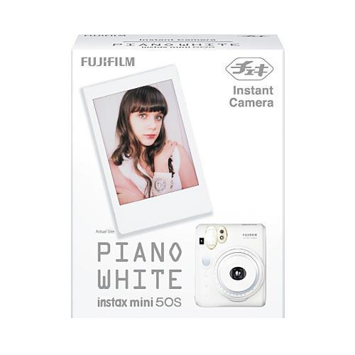 """チェキ""""「instax mini 50S ピアノホワイト」"""