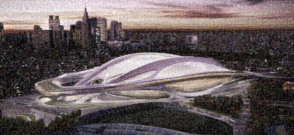 幻となったザハ・ハディド氏による新国立競技場のモザイクアート