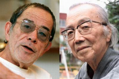「エロ事師」野坂昭如が慕った「エロの師」、吉村平吉さん(右)