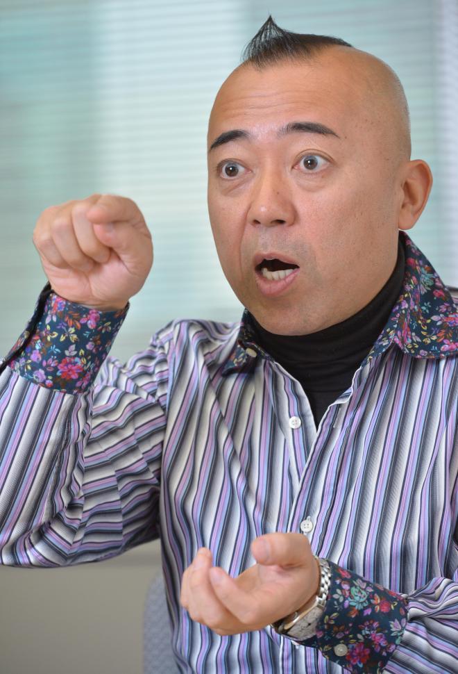 漢字について熱く語るゴルゴ松本さん
