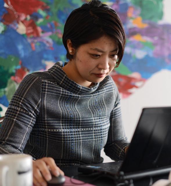 「もし京都が東京だったらマップ」を作った岸本千佳さん=長谷川健撮影