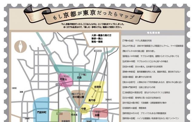 「もし京都が東京だったらマップ」の一部