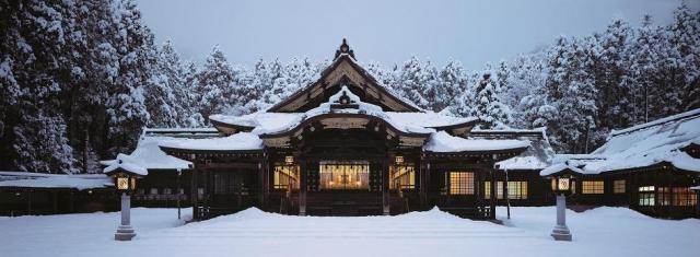 天野尚さんが2014年12月に撮影した弥彦村の弥彦神社