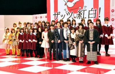 2015年の第66回NHK紅白歌合戦に初出場する歌手たち=2015年11月