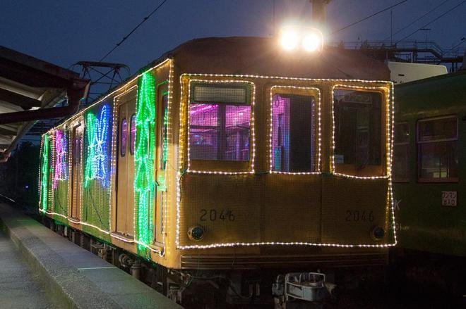 銚子電鉄のイルミネーション電車の外観