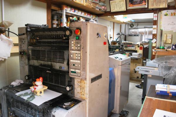 中村印刷所の内部