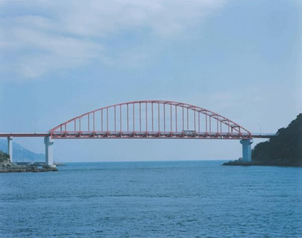 スチールで撮影した、樺島大橋の風景