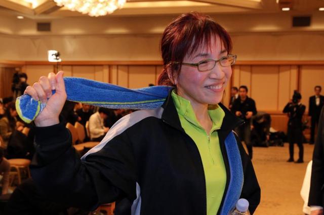 「昭和の犬」(幻冬舎 )で第150回直木賞を受賞した、姫野カオルコさん=2014年1月16日