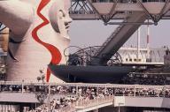 未来都市が再現された大阪万博の会場=1970年8月27日