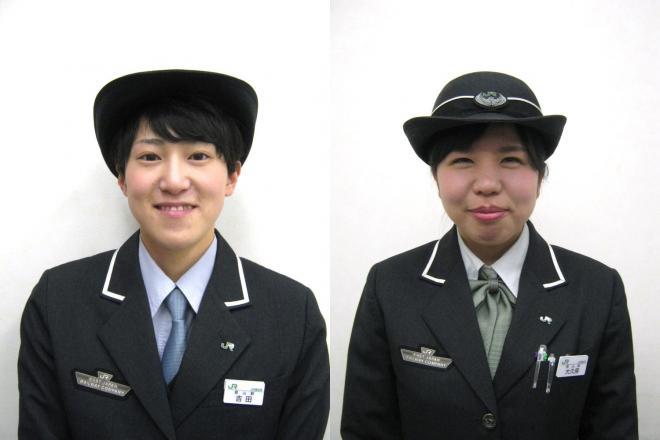 営業係の吉田真美さん(左)と、大久保優香さん(右)