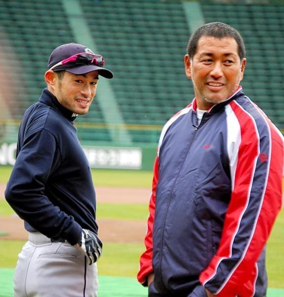 イチローと清原さん(右)=2009年1月31日