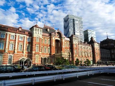 1914年の創建当時の姿を復活させた東京駅丸の内駅舎=2013年10月16日