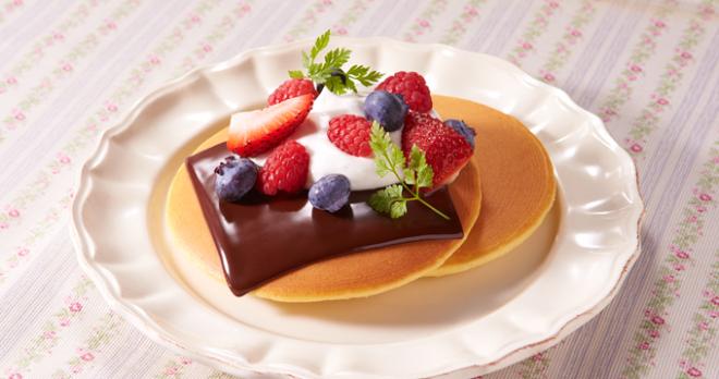 アレンジレシピ「チョコレートパンケーキ」