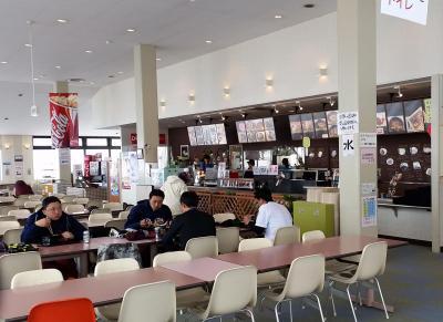 「爆竜丼」や「爆竜麺」を販売している、「竜王スキーパーク」のレストラン「シャルム」=長野県山ノ内町