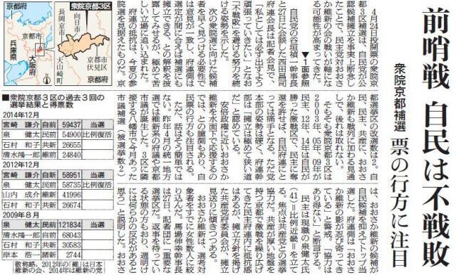 2016年2月28日大阪本社版の社会面「行方に注目」の見出しが出現