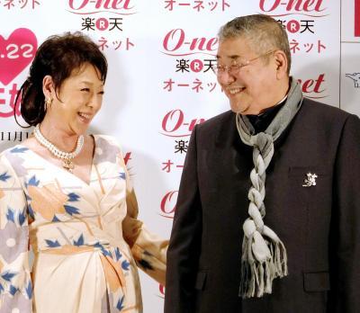 中尾彬、池波志乃夫妻。心屋仁之助さんは、夫を甘やかしすぎるのは「ダメンズ・メーカー」になるとバッサリ
