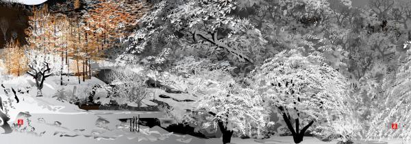 雪の大倉=堀内さん提供