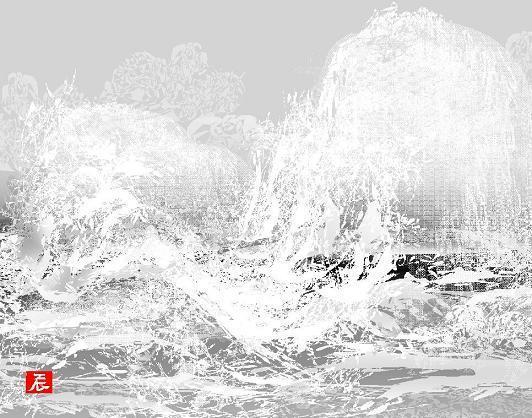 台風と海=堀内さん提供